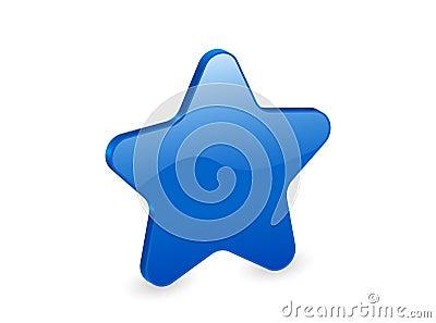 3d blue star