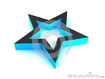 3D Blue Star.