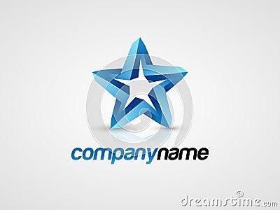 3D Blue star logo