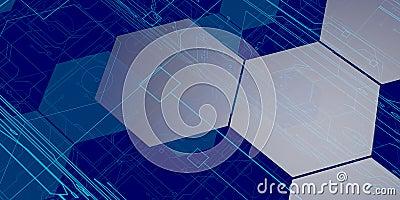 3D Blue Tech Background