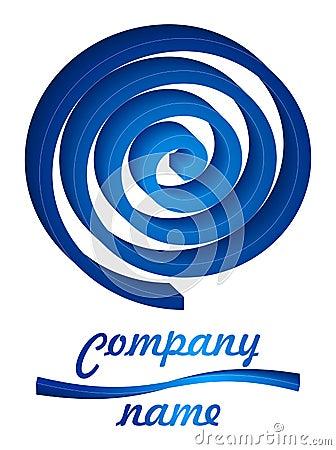 3D blue twist logo