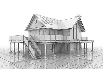 3D Blueprint House