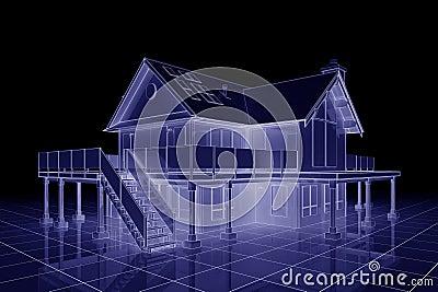 3d House Blueprint 3d blueprint house royalty