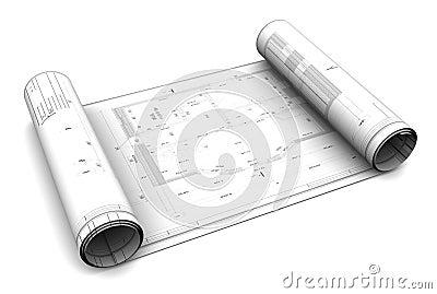3d blueprint roll