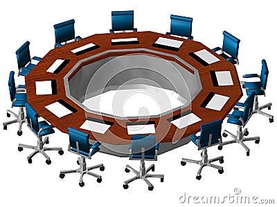 3D Boardroom perspective
