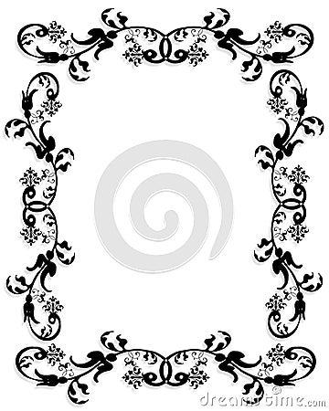 3D border frame black