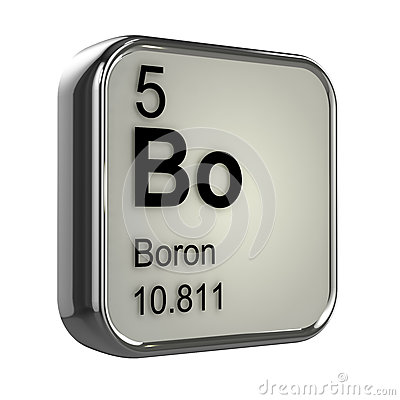 Free 3d Boron Element Stock Image - 39028741