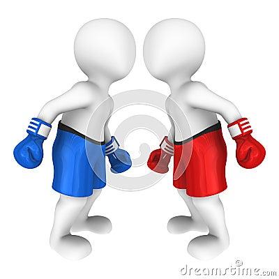 Free 3d Boxers Looks Eye To Eye Stock Image - 69152021