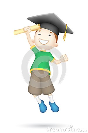 3d Boy with Mortar Board