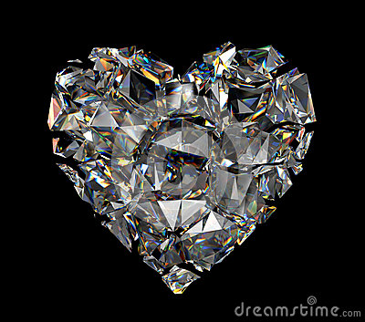 3d Broken Diamond Crystal Heart Stock Image - Image: 29542161 Black Suit Styles