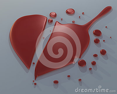 3D broken heart