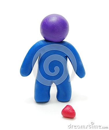 3D Brokenhearted Man Figure