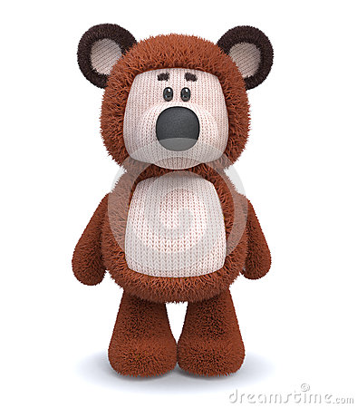 Free 3d Brown Bear Toy Stock Photos - 69210283