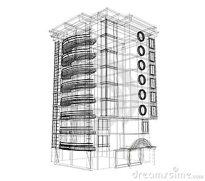 3d Building Plan Royalty Free Stock Images Image 18537309