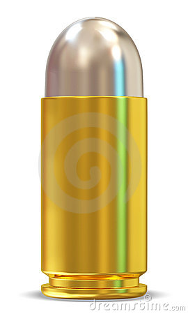 3D Bullet on white background