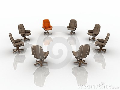 3d business armchairs