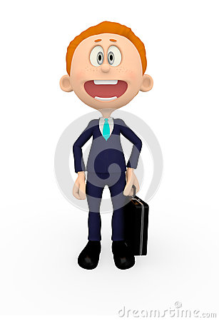 3D Business executive