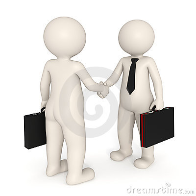 Free 3d Business People Shaking Hands Stock Photography - 17750112