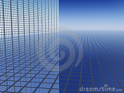 3D Business Progress Background