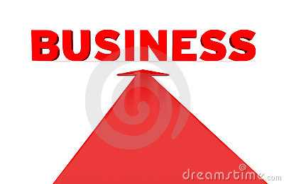 3d business word