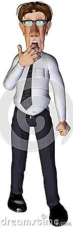 3d businessman unhappy surprise