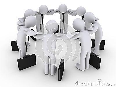3d Businessmen Concentrating