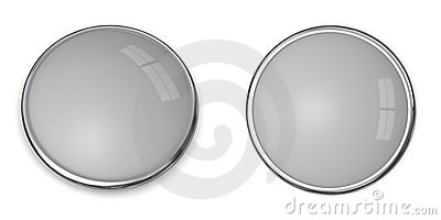 3D Button Solid Grey - 20