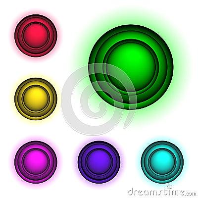 3d buttons,