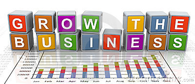 3d buzzword text  grow the business