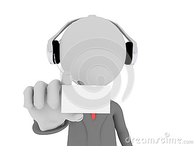 3d Call center operator