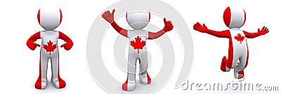 3d Canada charakteru flaga