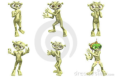 3D Cartoon Aliens