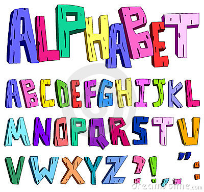 3d cartoon alphabet