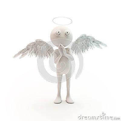 3D cartoon character angel