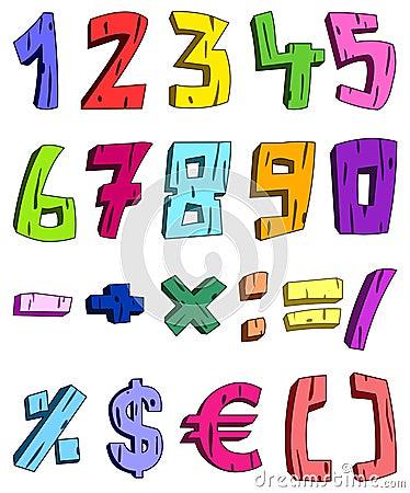 3d cartoon numbers