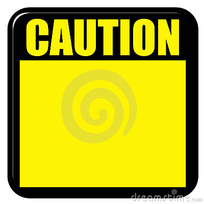 3D Caution Sign