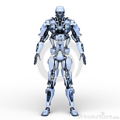 Free 3D CG Rendering Of Robot Stock Photos - 129577903