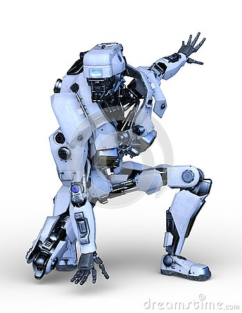 Free 3D CG Rendering Of Robot Stock Photography - 129578042