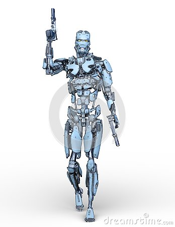 Free 3D CG Rendering Of Robot Royalty Free Stock Photography - 130490627