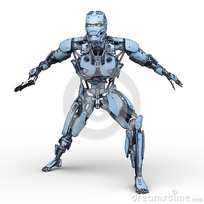 Free 3D CG Rendering Of Robot Royalty Free Stock Photography - 130490667