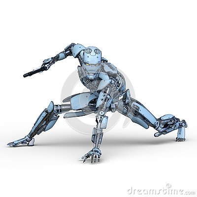 Free 3D CG Rendering Of Robot Royalty Free Stock Images - 130490669