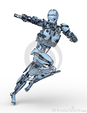 Free 3D CG Rendering Of Robot Stock Photography - 130490672