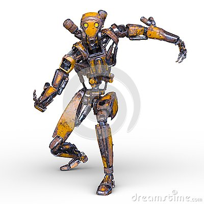 Free 3D CG Rendering Of Robot Royalty Free Stock Images - 130944329