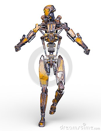Free 3D CG Rendering Of Robot Royalty Free Stock Images - 130944339