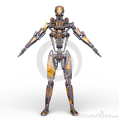 Free 3D CG Rendering Of Robot Royalty Free Stock Photography - 130944667