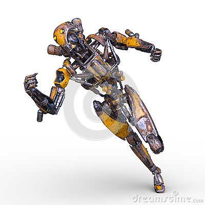 Free 3D CG Rendering Of Robot Stock Photos - 130944703