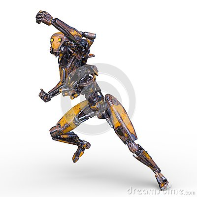 Free 3D CG Rendering Of Robot Stock Image - 130944781