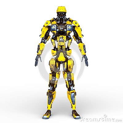 Free 3D CG Rendering Of Robot Stock Photography - 132396302