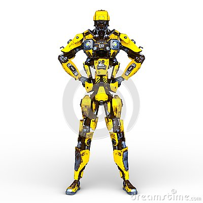 Free 3D CG Rendering Of Robot Stock Images - 132396304