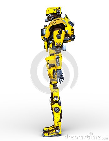 Free 3D CG Rendering Of Robot Royalty Free Stock Image - 132396336